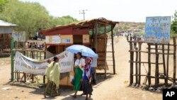 Un village de migrants à la frontière entre l'Ethhiopie et le Soudan, 3 juin 2015. (AP Photo/Mulugeta Ayene)