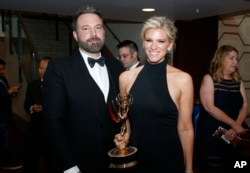 Ben Affleck and Lindsay Shookus attend Emmy Awards in September.