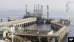 FILE - Liquefied natural gas (LNG) import terminal in Marmara Ereglisi, near Tekirdag, western Turkey.