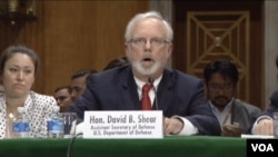 美國國防部主管亞太安全事務的助理部長施大偉。(視頻截圖)
