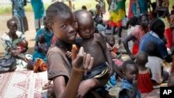 Un centre de l'Unicef pour enfants souffrant de malnutrition sévère, à Aweil, Soudan du Sud, le 16 septembre 2016.