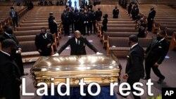 Les obsèques de George Floyd, dans une église du Texas mardi 8 juin 2020.