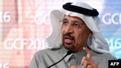 Khalid al-Falih, the chairman of Saudi state oil giant Aramco, addresses the 10th Global Competitiveness Forum on Jan. 25, 2016, in Riyadh.