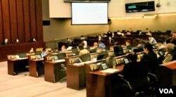 香港立法會內務委員會4月24日經過第16次會議,超過半年時間仍未選出正副主席。(美國之音湯惠芸攝)