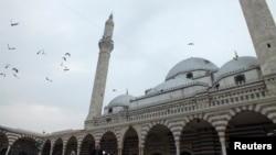 시리아 북부 홈스에 세워진 고대 유적 칼린 이븐 알-왈리드 이슬람 사원. (자료사진)