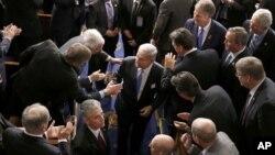 در اسفندماه سال گذشته که نتانیاهو در کنگره آمریکا حاضر شد، نمایندگان دو حزب از او حمایت کردند.