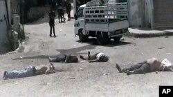Xác người chết tại xã Bayda village (ngày 2/5/2013)