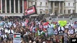 Britons demonstrate against the Afghanistan war in London, 23 Nov 2010
