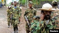 'Yan tawayen M23 a lokacin da suak shiga Goma, talata 20 Nuwamba, 2012.