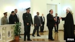 دیدار حسن روحانی، رئیس جمهوری ایران با نخست وزیر پاکستان در تهران