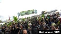 Une vue de la manifestation du 29 novembre 2013 à Lomé