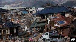 Ofunato, một trong các thị trấn bị tàn phá trong thiên tai tháng 3 năm ngoái. Nhật Bản đang lập kế hoạch xây dựng lại các thị trấn này thành những cộng đồng tiết kiệm năng lượng với một số ý tưởng khá táo bạo
