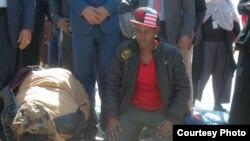 Qeyb ka mid ah tiro tahriibayaal ah oo dhawaantan laga keenay Libya oo ku sugan garroonka Aden Cabdulle ee Muqdisho. Feb. 17, 2018. (Somali Ministry of Information)