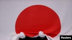 東京奧運會上的日本國旗。