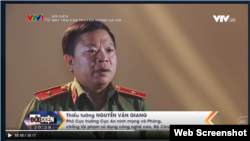 Ông Nguyễn Văn Giang. Chụp từ màn hình của VTV.