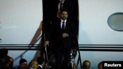 عکسی که رویترز از ورود حریری به لبنان منتشر کرده است.