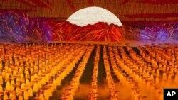 지난해 9월 북한 평양에서 열린 아리랑 공연. (자료사진)