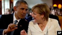 Барак Обама и Ангела Меркель (фото из архива)