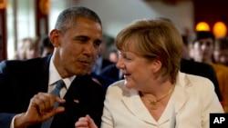 Барак Обама і Анґела Меркель