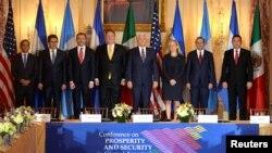 中美洲国家领导人2018年10月11日访问华盛顿(路透社)