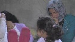 Сирийские беженцы у ливанской границы