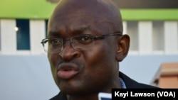 Cyrille Atonfack, lors du sommet sur la sécurité à Lomé, au Togo, le 11 octobre 2016. (VOA/Kayi Lawson)