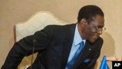 Le président équato-guinéen Teodoro Obiang Nguema Mbasogo à Carthage, Tunisie, le 27 février 2017.