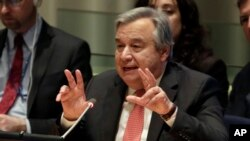 Antonio Guterres. (AP Photo/Richard Drew)