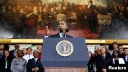 Predsednik Barak Obama govori u Bostonu, Masačusetsu, 30. oktobar 2013
