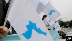 Lá cờ thống nhất của bán đảo Triều Tiên