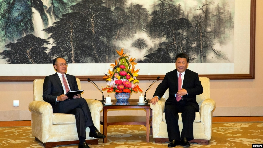 世界銀行行長金墉2018年7月16日在北京釣魚台國賓館與中國國家主席習近平會面。