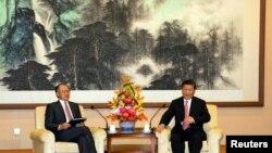 前世界銀行行長金墉2018年7月16日在北京釣魚台國賓館與中國國家主席習近平會面。