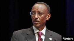 FILE - Rwanda's President Paul Kagame, Oct. 26, 2011.