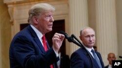 Perezida wa Amerika Donald Trump kumwe na mugenzi we w'Uburusiya muri Finlande