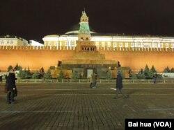 莫斯科红场列宁墓。(美国之音白桦拍摄)