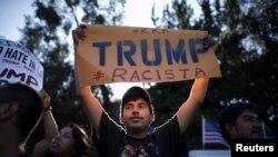 Cumhuriyetçi Partili aday adayı Donald Trump'ı protesto eden göçmenler
