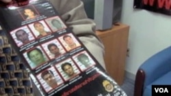 Poster yang memuat foto penjahat-penjahat Asia Tenggara yang paling dicari atas kejahatan narkoba