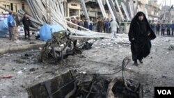 Daerah permukiman warga Syiah di Baghdad sering menjadi sasaran pemboman dalam beberapa minggu terakhir (24/1).