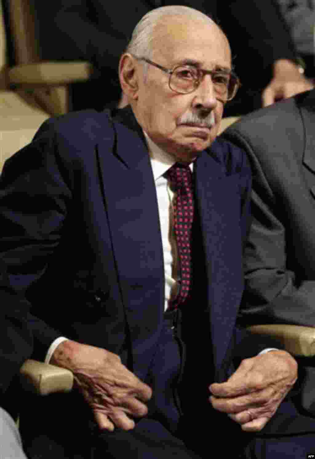 Former Argentine dictator Jorge Rafael Videla attends the last day of his trial in Cordoba, Argentina, Wednesday Dec. 22, 2010. Videla and former officers are facing charges involving 31 killings during the country's dirty war. A verdict in the case is ex