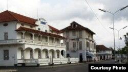 BAnco Central de São Tomé and Príncipe, na cidade de São Tomé