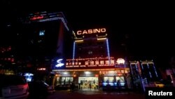 Local Cambodians worry about the influx of Chinese businesses such as this restaurant, hotel and casino in Preah Sihanoukville province. (Samrang Pring | Reuters)
