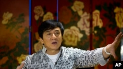 Jackie Chan lors d'une interview à Beijing, 3 aout, 2015.
