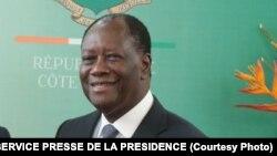 Le président ivoirien Alassane Ouattara le 31 octobre 2016.