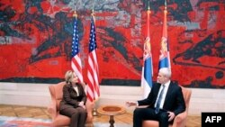 Hilari Klinton u razgovoru sa predsednikom Srbije Borisom Tadićem