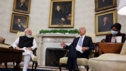 Джо Байден с премьер-министром Индии Нарендрой Моди