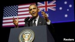 Президент Барак Обама в Брісбені