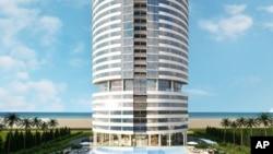 Así lucirá la Torre Trump de Punta del Este, Urugauy, cuando conclcuya su construcción en 2018.