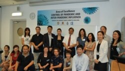 Journalists attend VOA organized workshop on health reporting.