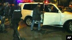 Wurin da motar safa ta tarwatse a birnin Tunis na kasar Tunisia