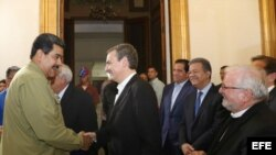 El exjefe del Gobierno español José Luis Rodríguez Zapatero, participó de la reunión con Maduro.